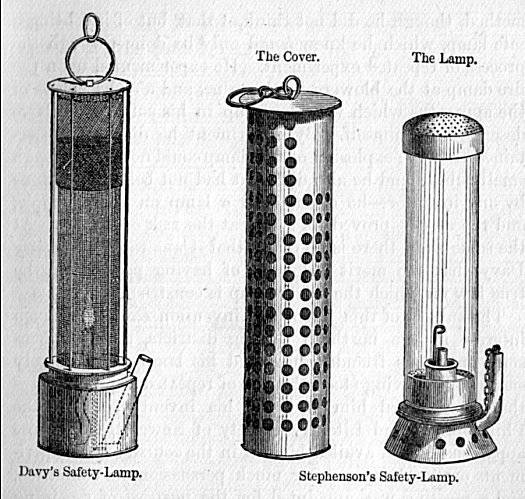 Stephenson safety lamp
