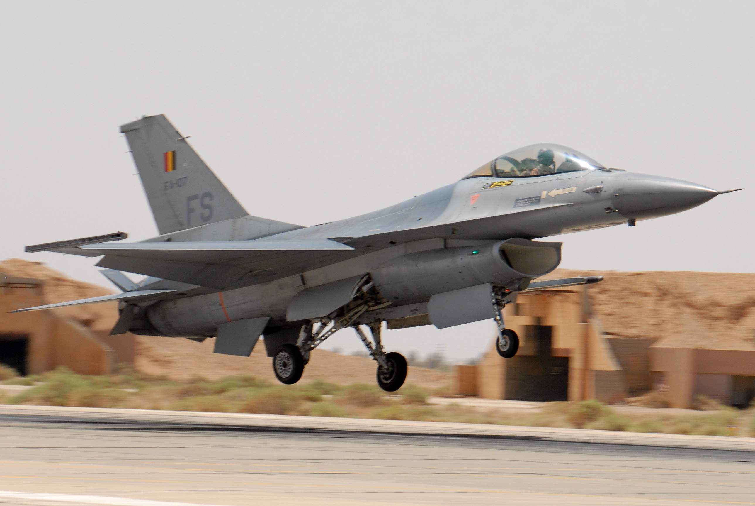 Belgian F 16 at 2007 Falcon Air Meet in Azraq
