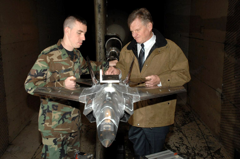 F 35 Scale Model Aerodynamic testing