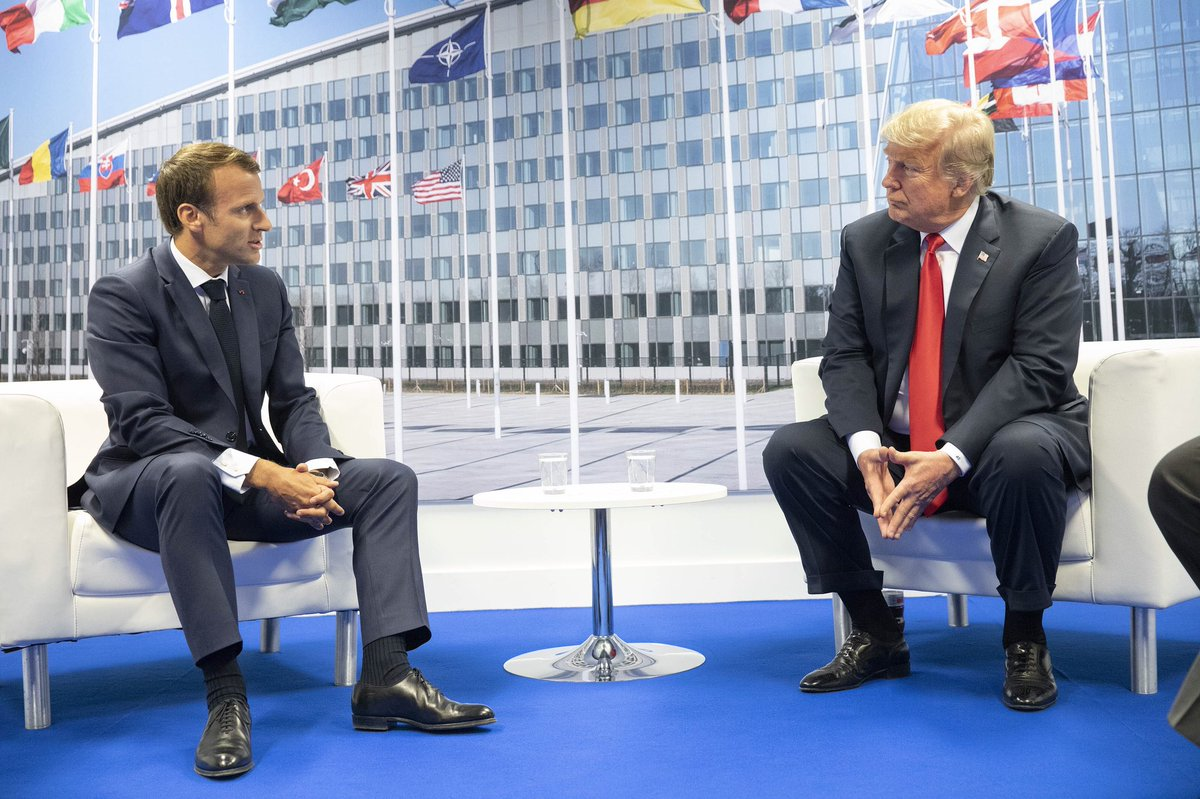 Trump and Macron at 2018 NATO Summit