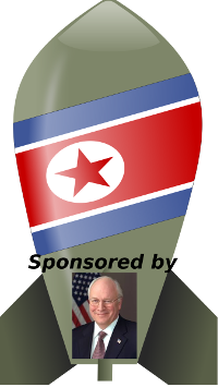 north korea bomb cheney small