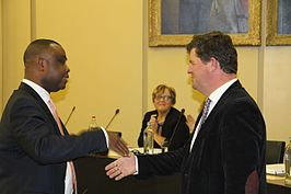 Collins Nweke and Bart Tommelein 2012